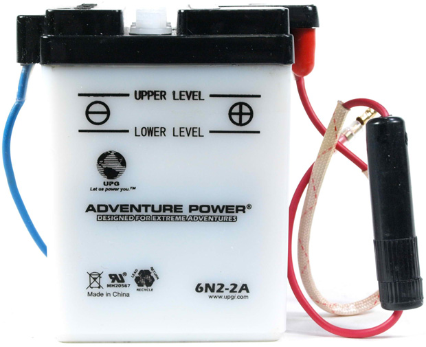 UPG Adventure Power Lead-Acid Conventional: 6N2-2A, 2 AH, 6 V
