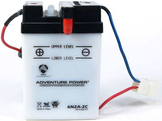UPG Adventure Power Lead-Acid Conventional: 6N2A-2C, 2 AH, 6 V