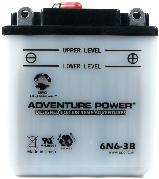 UPG Adventure Power Lead-Acid Conventional: 6N6-3B, 6 AH, 6V