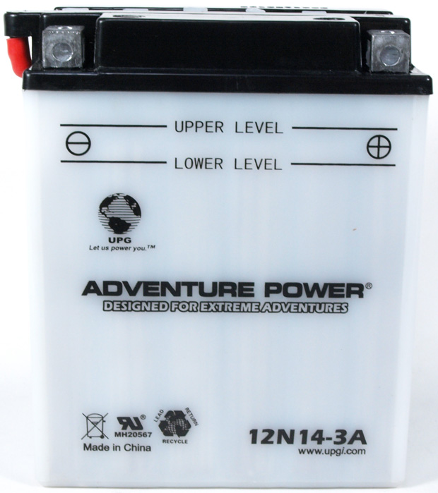 UPG Adventure Power Lead-Acid Conventional: 12N14-3A, 14 AH, 12 V