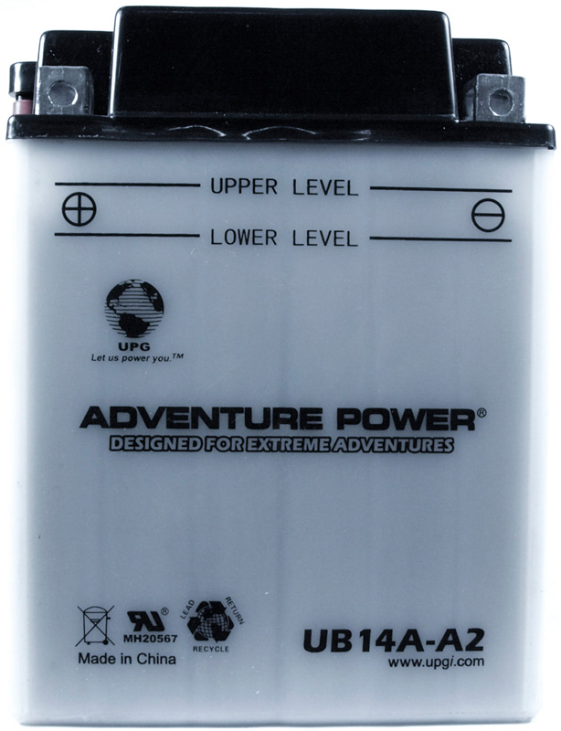 UPG Adventure Power Lead-Acid Conventional: UB14A-A2, 14 AH, 12V