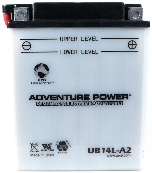 UPG Adventure Power Lead-Acid Conventional: UB14L-A2, 14 AH, 12 V