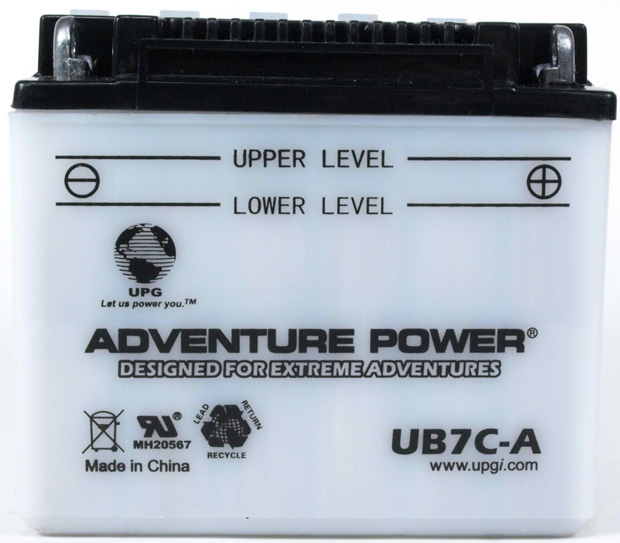 UPG Adventure Power Lead-Acid Conventional: UB7C-A, 8 AH, 12V