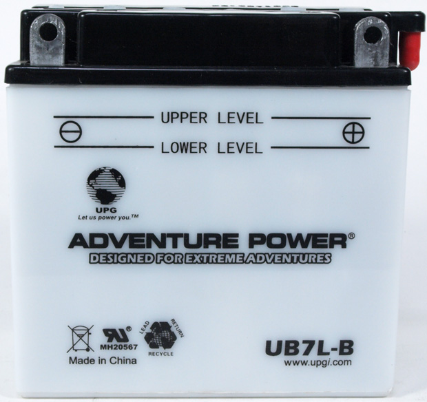 UPG Adventure Power Lead-Acid Conventional: UB7L-B, 8 AH, 12V