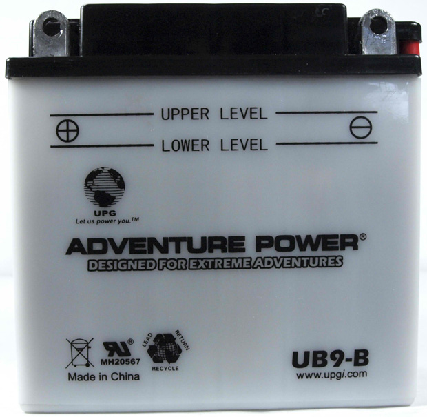 UPG Adventure Power Lead-Acid Conventional: UB9-B, 9 AH, 12V