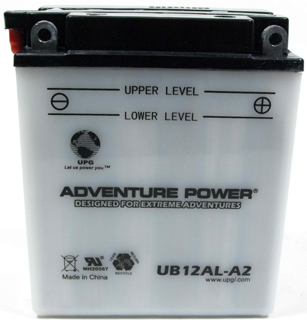 UPG Adventure Power Lead-Acid Conventional: UB12AL-A2, 12 AH, 12 V