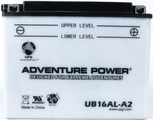 UPG Adventure Power Lead-Acid Conventional: UB16AL-A2, 16 AH, 12V