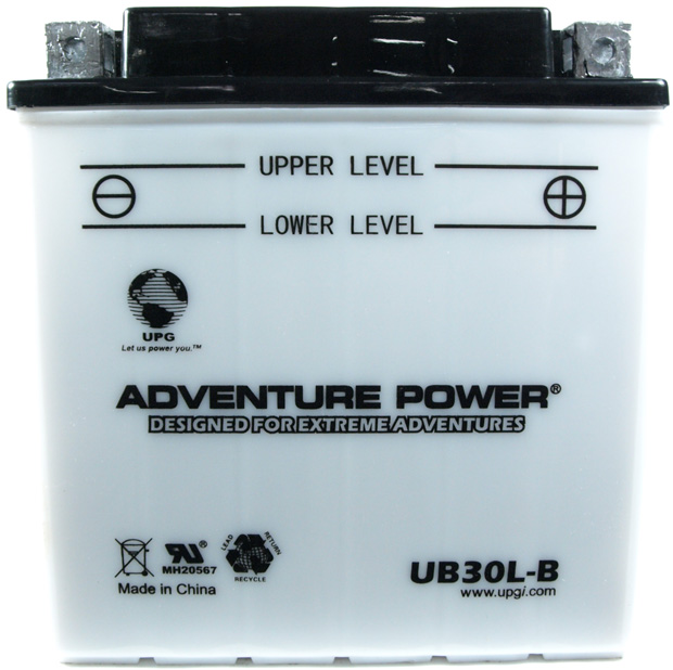 UPG Adventure Power Lead-Acid Conventional: UB30L-B, 30 AH, 12V
