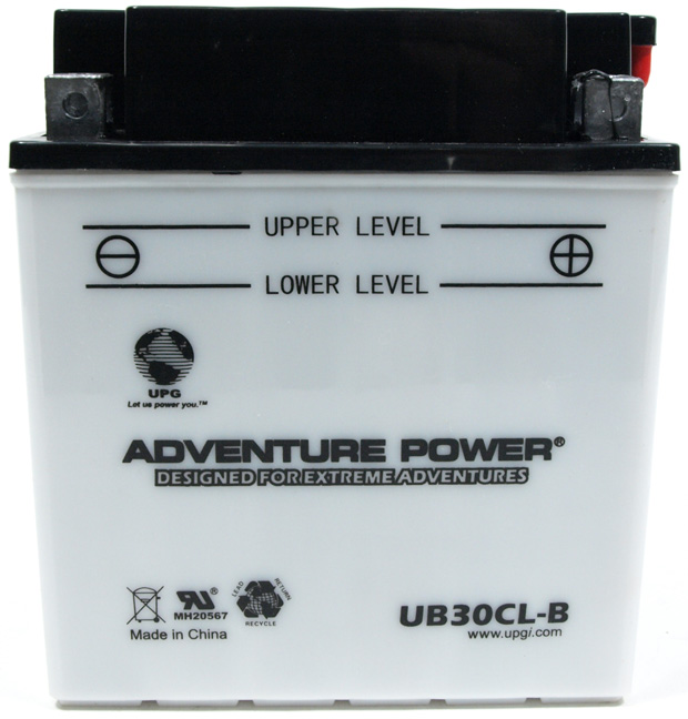 UPG Adventure Power Lead-Acid Conventional: UB30CL-B, 30 AH, 12 V