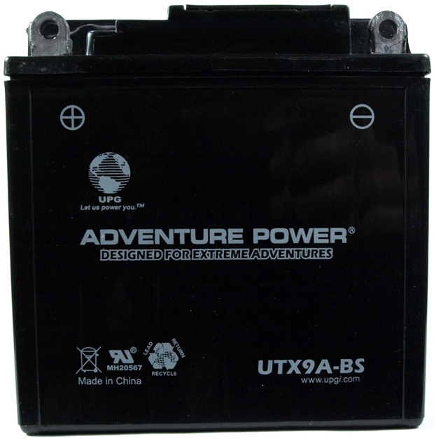 UPG Adventure Power Sealed Lead Acid Dry Charge AGM: UTX9A-BS, 9 AH, 12V