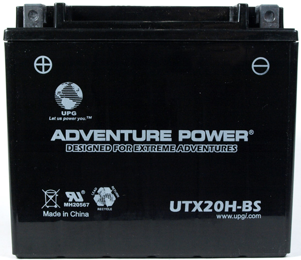 UPG Adventure Power Sealed Lead Acid Dry Charge AGM: UTX20H-BS, 18 AH, 12V