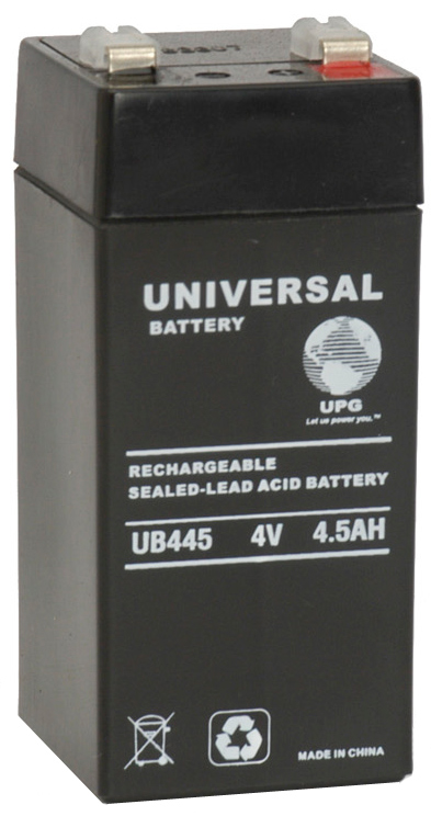 UPG Sealed Lead Acid AGM: UB445, 4.5 AH, 4V