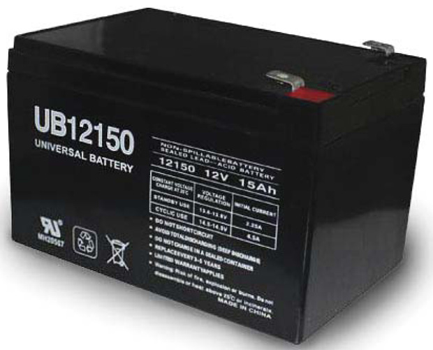 UPG Sealed Lead Acid AGM: UB12150, 15 AH, 12V