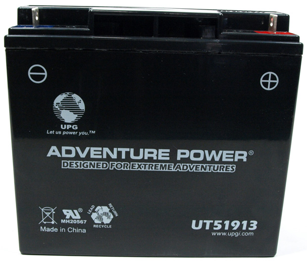 UPG Adventure Power Sealed Lead Acid: 51913, 18 AH, 12V