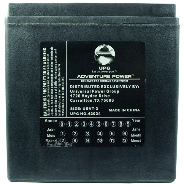 UPG Adventure Power Sealed Lead Acid: UBVT-2, 30 AH, 12V