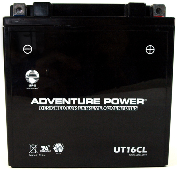UPG Adventure Power Sealed Lead Acid: UT16CL, 19 AH, 12V