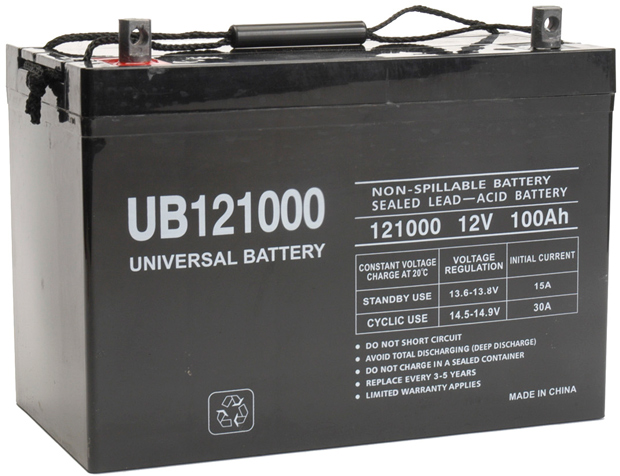 UPG Sealed Lead Acid AGM: UB121000, 100 AH, 12V
