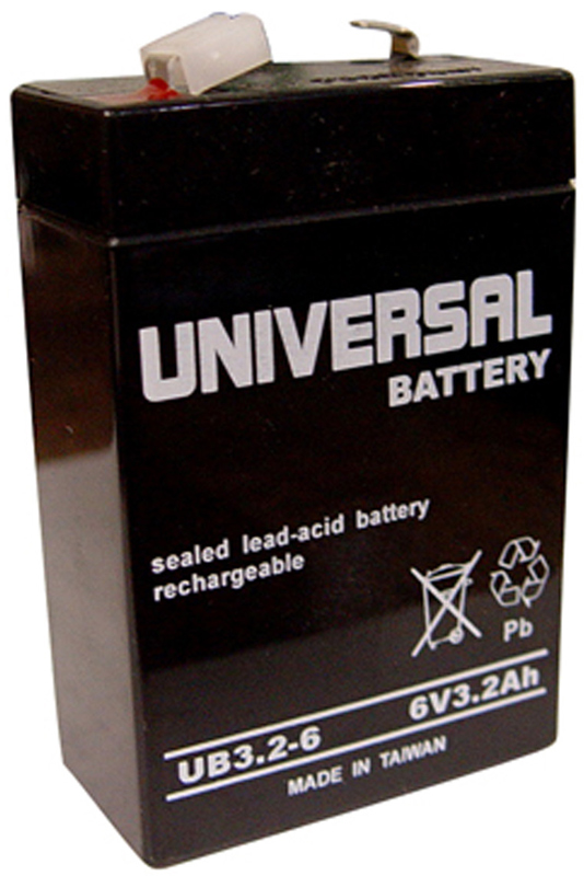 UPG Sealed Lead Acid AGM: UB3.2-6, 3.2 AH, 6V