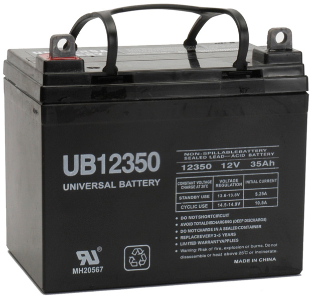 UPG Sealed Lead Acid AGM: UB12350, 35 AH, 12V