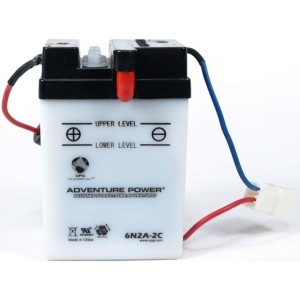 UPG Adventure Power Lead-Acid Conventional: 6N2A-2C, 2 AH, 6V