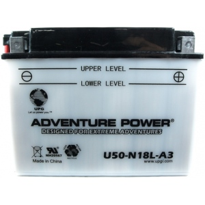 UPG Adventure Power Lead-Acid Conventional: U50-N18L-A3, 20 AH, 12V