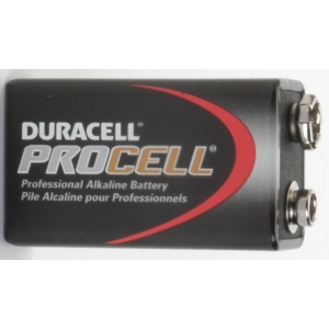 UPG Security Solutions Duracell/Procell 9V Alkaline Bulk: PC1604, 12/72