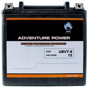 UPG Adventure Power Sealed Lead Acid: UBVT-8, 12 AH, 12V