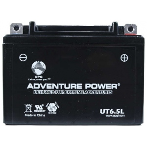 UPG Adventure Power Sealed Lead Acid: UT6.5L, 6.5 AH, 12V