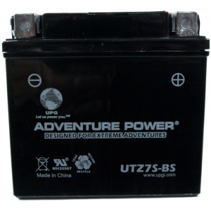 UPG Adventure Power Sealed Lead Acid Dry Charge AGM: UTZ7S-BS, 6 AH, 12V