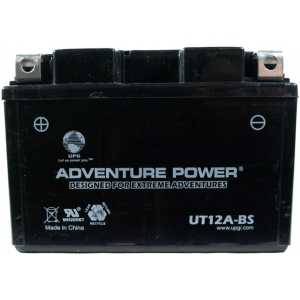 UPG Adventure Power Sealed Lead Acid Dry Charge AGM: UT12A-BS, 9.5 AH, 12V