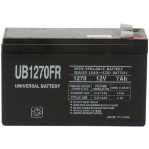UPG Flame Retardant Sealed Lead Acid AGM: UB1270FR, 7 AH, 12V