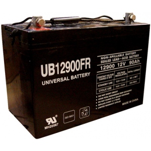 UPG Flame Retardant Sealed Lead Acid AGM: UB12900FR, 90 AH, 12V