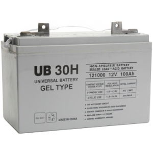 UPG Sealed Lead Acid Gel: UB-30H Gel, 100 AH, 12V