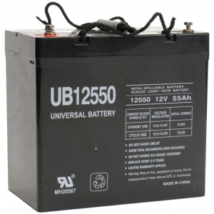 UPG Sealed Lead Acid AGM: UB12550, 55 AH, 12V, I4