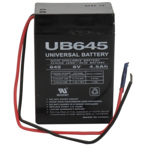 UPG Sealed Lead Acid AGM: UB645WL, 4.5 AH, 6V