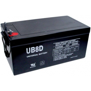 UPG Sealed Lead Acid AGM: UB-8D AGM, 250 AH, 12V