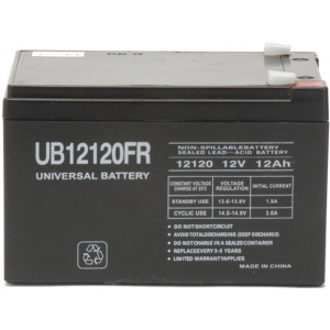 UPG Flame Retardant Sealed Lead Acid AGM: UB12120FR, 12 AH, 12V