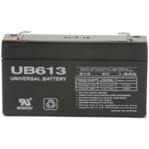 UPG Sealed Lead Acid AGM: UB613, 1.3 AH, 6V