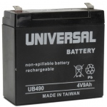 UPG Sealed Lead Acid AGM: UB490, 9 AH, 4V