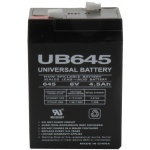 UPG Sealed Lead Acid AGM: UB645, 4.5 AH, 6V