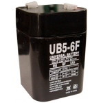 UPG Sealed Lead Acid AGM: UB650F Lantern, 5 AH, 6V