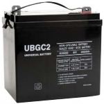 UPG Sealed Lead Acid AGM: UB-GC2 (Golf Cart), 200 AH, 6V