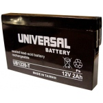 UPG Sealed Lead Acid AGM: UB1220-T, 2 AH, 12V