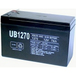 UPG Sealed Lead Acid AGM: UB1270, 7 AH, 12V