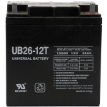 UPG Sealed Lead Acid AGM: UB122260T, 26 AH, 12V