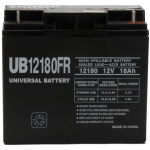 UPG Flame Retardant Sealed Lead Acid AGM: UB12180FR, 18 AH, 12V