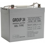 UPG Sealed Lead Acid Gel: UB-24 Gel, 75 AH, 12V