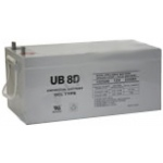 UPG Sealed Lead Acid Gel: UB-8D Gel, 250 AH, 12V