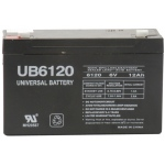 UPG Sealed Lead Acid AGM: UB6120, 12 AH, 6V, F1