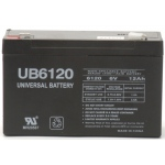 UPG Sealed Lead Acid AGM: UB6120, 12 AH, 6V, F2